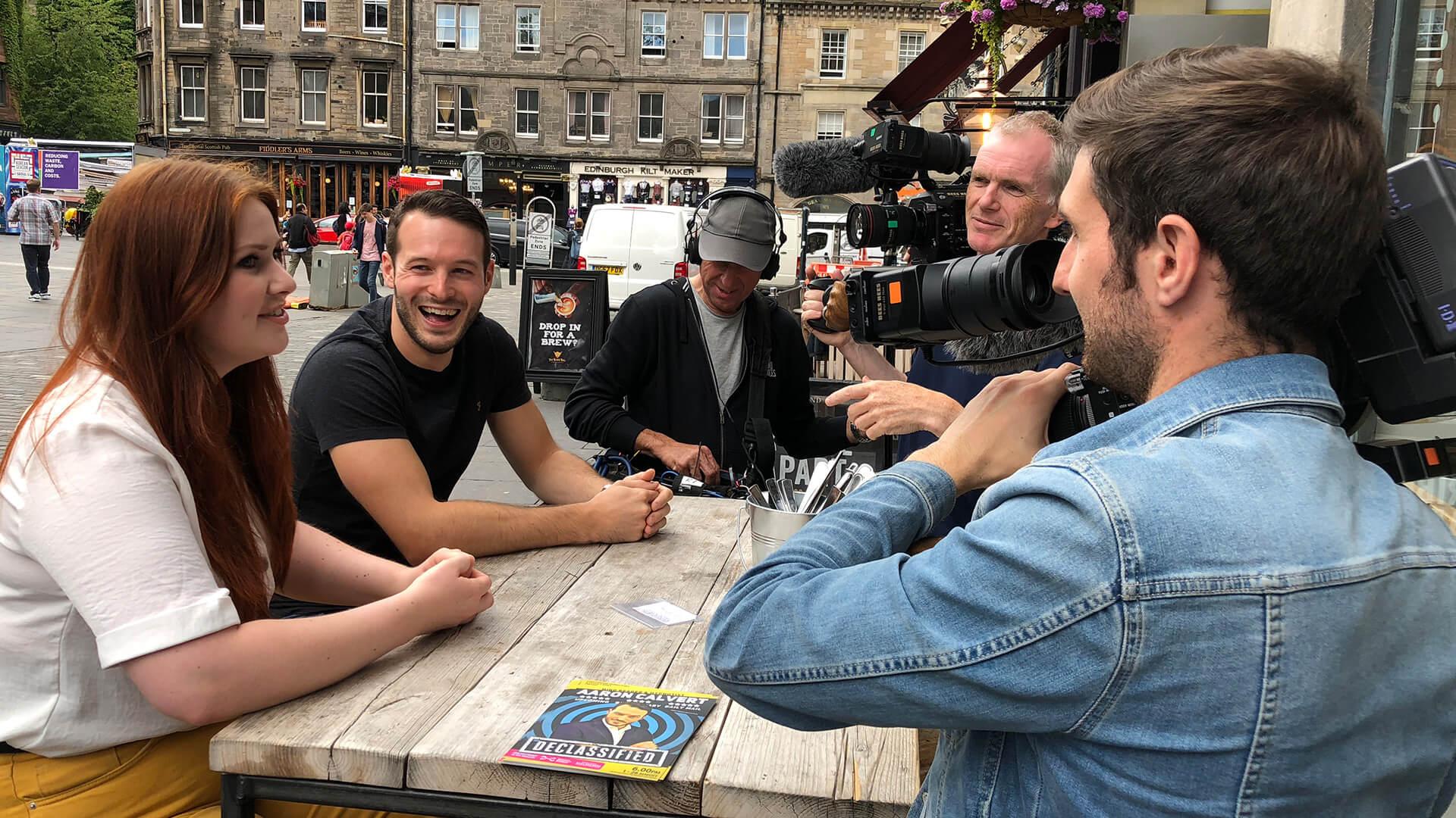 production company Prescription Media Interview in Edinburgh