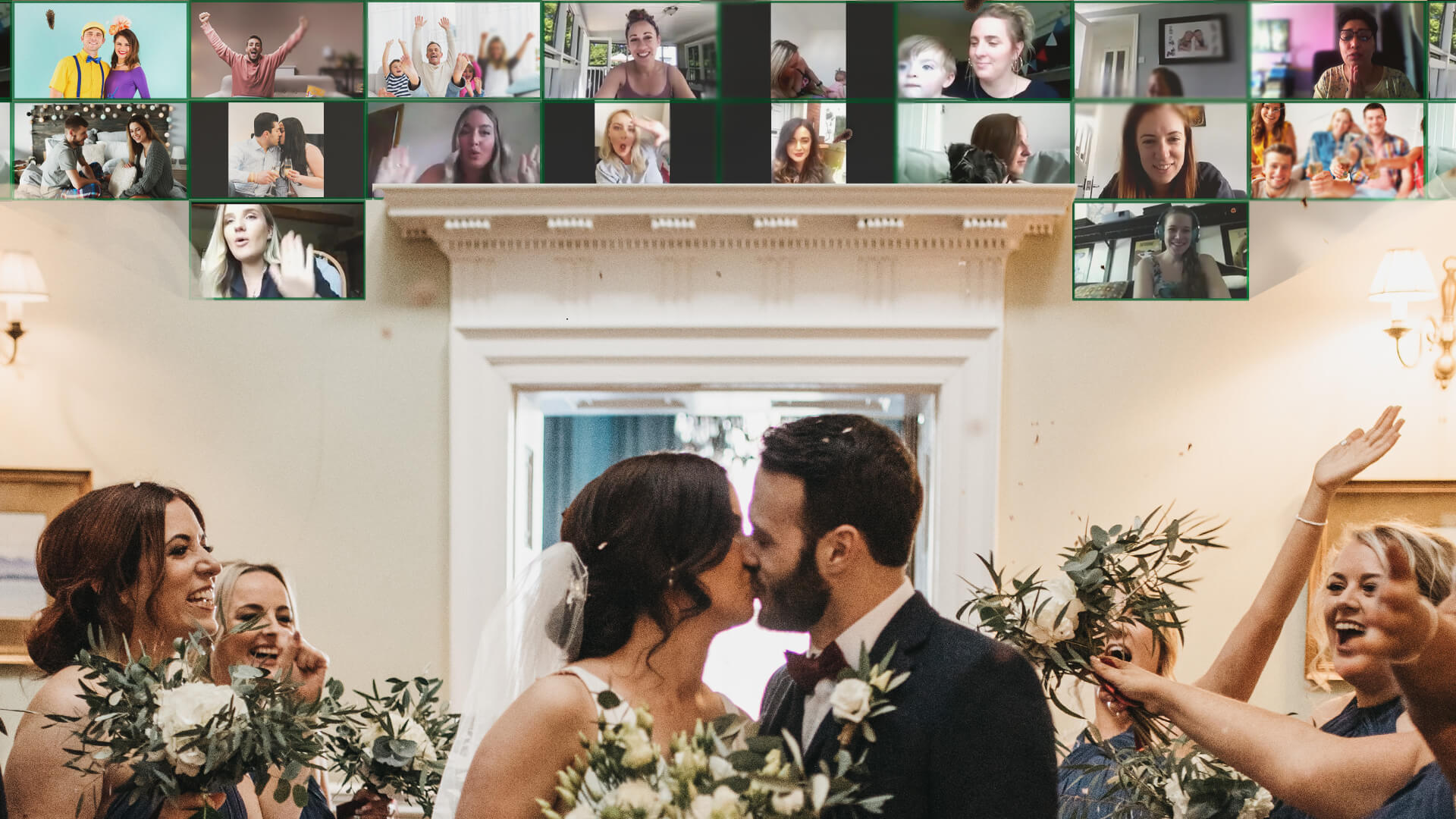 wedding live stream virtual wall by prescription media